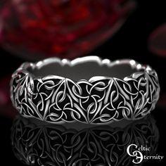 Celtic Wedding Rings, Celtic Rings, Wedding Bands, Wedding Anniversary Rings, Clover Ring, Celtic Heart Knot, Trinity Knot, Celtic Designs, Rings For Men