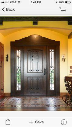 Entrance door..