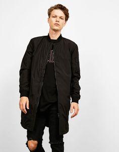 #Bershka Long bomber jacket 1.0