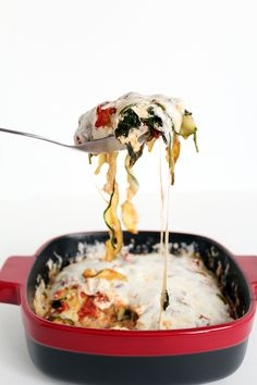 Spinach Zucchini Noodle Lasagna (I tried this last night and it is AHMAZING! I didn't miss the noodles & creamy cheese at all. A definite must try!)