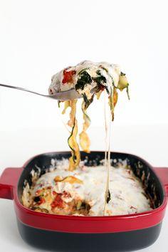Spinach Zucchini Noodle Lasagna - Inspiralized