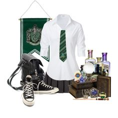 Designer Clothes, Shoes & Bags for Women Harry Potter Dress, Harry Potter Oc, Harry Potter Style, Harry Potter Tumblr, Harry Potter Outfits, Slytherin Pride, Slytherin Aesthetic, Harry Potter Aesthetic, Slytherin Clothes