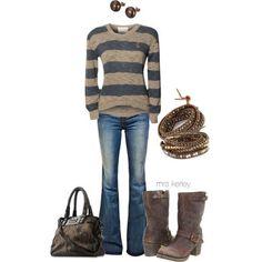 BLONDE & BLONDE Stripe Knitted Jumper