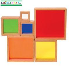 Guidecraft Stacking Rainbow Pyramid