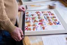 You name it, we frame it! X-stitch being framed at Rosie's Framing. Frame It, Workshop, Playing Cards, Stitch, How To Make, Pictures, Photos, Atelier, Full Stop
