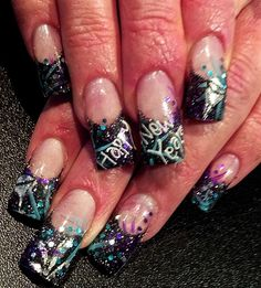 Happy New Years by crystal_marie - Nail Art Gallery nailartgallery.nailsmag.com by Nails Magazine www.nailsmag.com #nailart