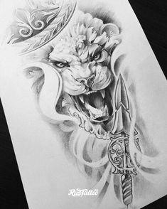 sketch for future tattoo, Leo Magic Tattoo, Devil Tattoo, Lion Tattoo, Cat Tattoo, Tattoo Sketches, Tattoo Drawings, Art Sketches, Future Tattoos, Tattoos For Guys