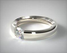 Modern Tension Engagement Rings - Mobile