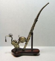 Vintage Burmese Metal Peacock Bird Opium Pipe with by Cosasraras, $49.99