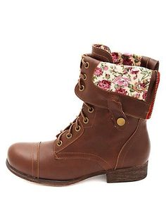 Super cute combat boots! i have these but the flaps at the top are ...