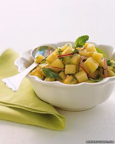 PHOTO: ALAN BENSON  <8 of 15 >  Spicy Pineapple-and-Mint Salsa    In addition to making a great dip for chips, you can serve with grilled pork or fish, such as red snapper or striped bass.  Get the Salsa Recipe