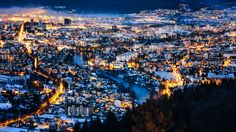 Twilight over Banja Luka the second largest city in Bosnia and Herzegovina [20481152] Photographed by Ognjen Golubovic