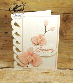 Lattice Orchid by Wendy Lee, Stampin Up, stamping, handmade card, #creativeleeyours, creatively yours, climbing orchid stamp set, flourishing phrases stamp set, orchid builder framelits, August 2017 FMN class, sympathy card, embossing