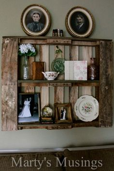 Marty's Musings: How to Decorate with Pallet Shelves