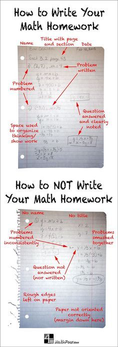 Are you frustrated with the sloppiness or disorganization of math homework? Here are some tips to help your students. ~Bon