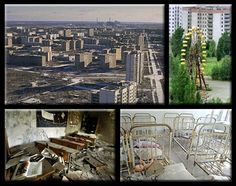Pripyat, Ukraine was once a thriving city of 50,000, but was abandoned following the nuclear disaster at Chernobyl. For a long time the amazingly preserved city – rapidly abandoned by the populace – was a virtual museum, a snapshot of the times. Pripyat has since been looted and only images and architecture remain. The site will be unfit for human habitation for hundreds of years due to nuclear fallout.