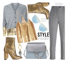 """Gold & Grey (TS 12 Feb 17..Thanks PV )"" by hattie4palmerstone ❤ liked on Polyvore featuring Isabel Marant, Loewe, mizuki, Dries Van Noten, Chloé and TIBI"