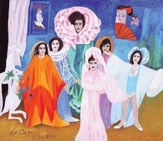 (Korea) Broadway by Chun Kyung-ja (1924-2015). 천경자.