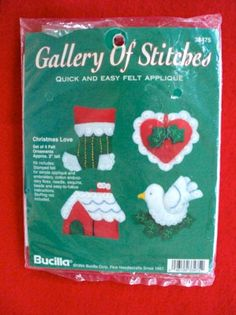 Christmas Love Felt Kit  Set of 4 Felt by DocksideDesignsEtc, $6.25