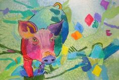 Psycho Pig, painting by artist Kay Smith