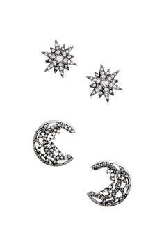 Moon and star earrings, € 10 - H&M