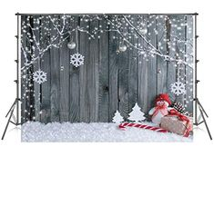 New Christmas Window Backdrop Winter Snowflake Photography Background 7x5ft Moon Santa Garland Cute Girl Christmas Party Backdrop Xmas Wall New Year Decorations Kids Family Portrait Photo Props