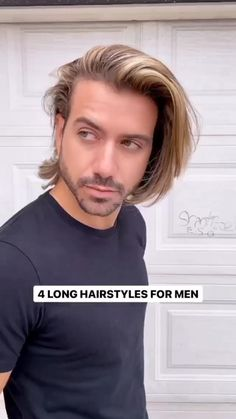 Cool Hairstyles For Men, Boys Long Hairstyles, Haircuts For Long Hair, Men's Hairstyles, Long Wavy Hair, Long Hair Cuts, Thick Hair, Medium Hair Styles, Short Hair Styles