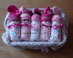 In the box girl baby diaper baby gift birth by BabyGiftsByEvi