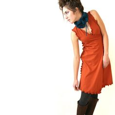 WRAP DRESS womens dress| trending item| best selling| custom clothes| wrap dress| rust orange dress| handmade dress| day dress by treehouse28 on Etsy https://www.etsy.com/listing/59308400/wrap-dress-womens-dress-trending-item