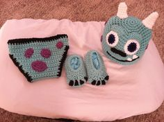 Crocheted Baby Monsters Inc Sully Hat Diaper Cover by BuyBillerman, $28.00