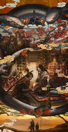 Sif Dark Souls, Arte Dark Souls, Vintage Illustration Art, Digital Illustration, Watercolor Art Landscape, Samurai Artwork, Drawn Art, Abstract Digital Art, Soul Art