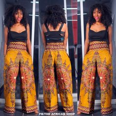 Cara Wide Leg pant by THEAFRICANSHOP on Etsy, £48.00