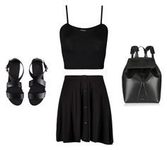 """""""Minimalist - Set Forty"""" by krainem ❤ liked on Polyvore featuring Boohoo, Mansur Gavriel, WearAll and H&M"""