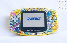 RARE Nintendo Game Boy Advance AGS 101 Backlight Custom Pokemon edition GBA #Nintendo #gameboy #gba #pokemon #pikachu # AGS101