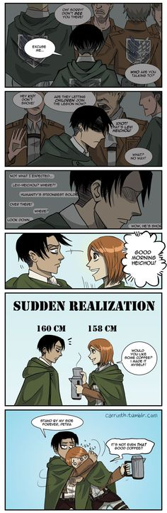 """Sudden Realization: Stay by my side forever, Petra"" [Humor] #levi #petra"