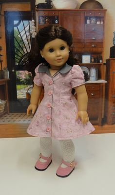 April Petals 40's Gored Dress for American Girl by cupcakecutiepie, $43.00