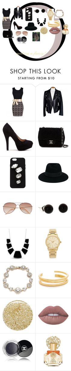 """""""Meeting a family"""" by minions4ever123 on Polyvore featuring Alexander McQueen, Chanel, STELLA McCARTNEY, Maison Michel, H&M, Karen Kane, Michael Kors, Marchesa, Madewell and Lancôme"""