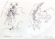 I've been asked a lot about how to depict different scales recently. The question is – how do you tell the viewer of one map that they're looking at a zoomed in region of a small area, and on another map convince the viewer that they're looking at a large area, zoomed out. The easiest …
