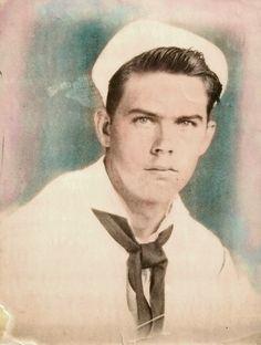 SAILOR vintage tinted photo 40's (please follow minkshmink on pinterest) #sailor