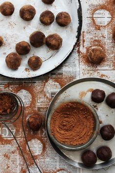 Salted Caramel and Whiskey Truffles from www.bakersroyale.com