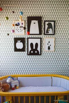 a gender neutral nursery with the prettiest wallpaper backdrop regenbogen kinderschlafzimmer und hintergrnde - Kinderzimmer Dekoration In Schulen