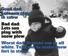 What Snow Means to Dad vs his kids
