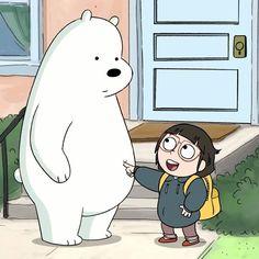 Chloe and Polar . We Bare Bears Ice Bear We Bare Bears, We Bear, Funny Baby Gif, Funny Babies, We Bare Bears Wallpapers, Cute Wallpapers, Pardo Panda Y Polar, Bear Gif, Bear Wallpaper
