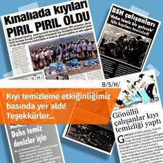 """BSH Gelecek Günü kapsamında, Deniz Temiz Derneği-Turmepa işbirliğiyle Kınalıada'da gerçekleştirdiğimiz """"Kıyı Temizleme Gönüllülük Hareketi"""" basında geniş yer buldu. Çok mutlu olduk. Bu hayati konuya ilgi gösteren çevreci medya dünyasına teşekkür ediyoruz :) #BSH #BSHGönüllüleri #Sürdürülebilirlik #Gelecek"""