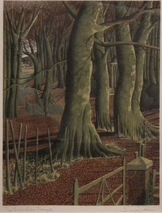 Autumn Forest Art by Simon Palmer Autumn Forest, Forest Art, The English Patient, Tree Illustration, Illustrations, European Paintings, Over The River, Naive Art, Elements Of Art