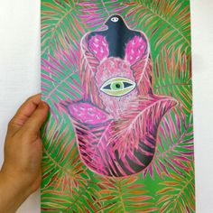 Unique Hamsa art print based on my original ink and watercolor drawing. Palm tree leaves, cactus and the eye to keep bad energies away ❤ A4 art print that fits standard size frames. 300grams semi gloss paper and just great for the modern interior ❤🌵🌴