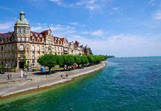 国境にあるボーデン湖の見所。自然が生み出す真っ青なボーデン湖。ドイツとオーストリア、スイスの国境にあるのでヨーロッパ旅行で行ってみたい。