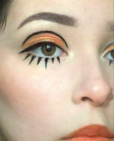 Retro Makeup, Edgy Makeup, Eye Makeup Art, Clown Makeup, Vintage Makeup, Cute Makeup, Makeup Inspo, Makeup Inspiration, Beauty Makeup