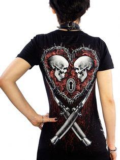 "Women's ""Till Death"" Tee by Skygraphx (Black) #InkedShop #Till #Death #Black #Tshirt"