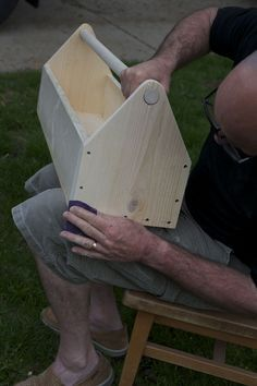 How to make a handsome wooden tool carrier or toolbox with just a few supplies.